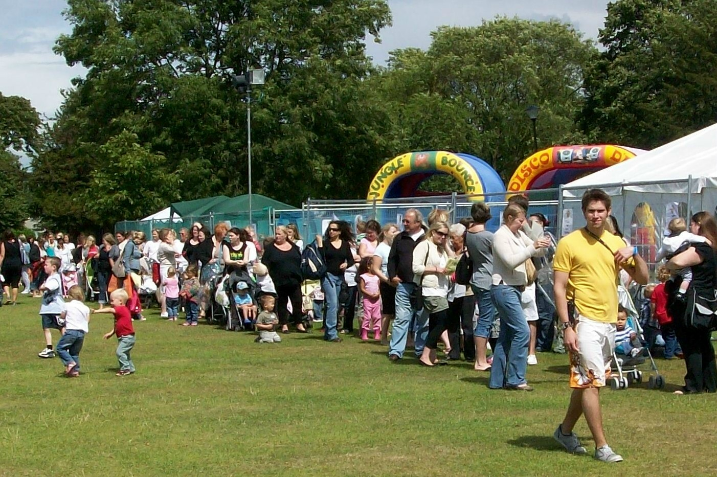 Visitors to Lark in the Park