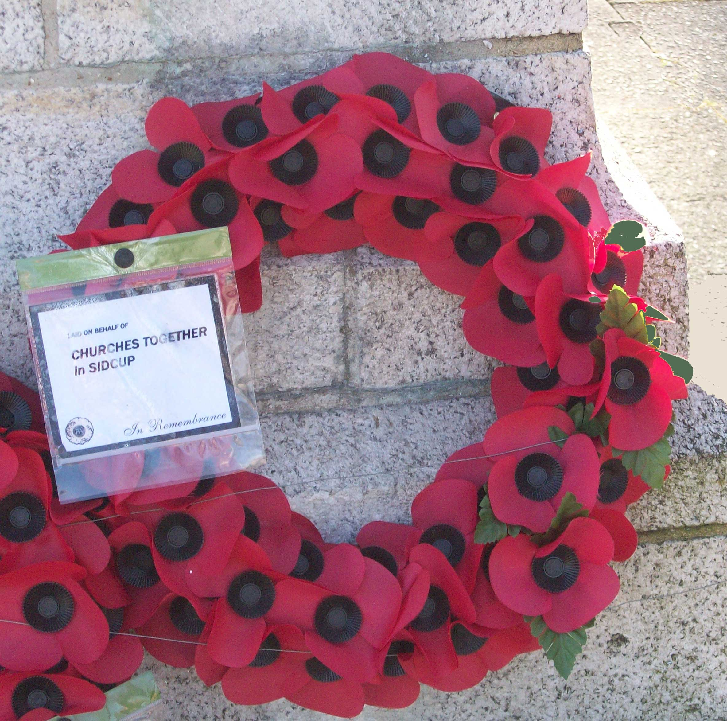 Remembrance Ceremony at The  Green, Sidcup Place on Sunday 8th November