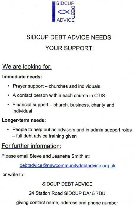 Sidcup Debt Advice